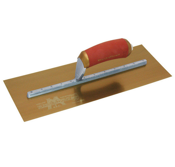 "16"" X 5"" GOLD STAINLESS STEEL PERMA SHAPE TROWEL"