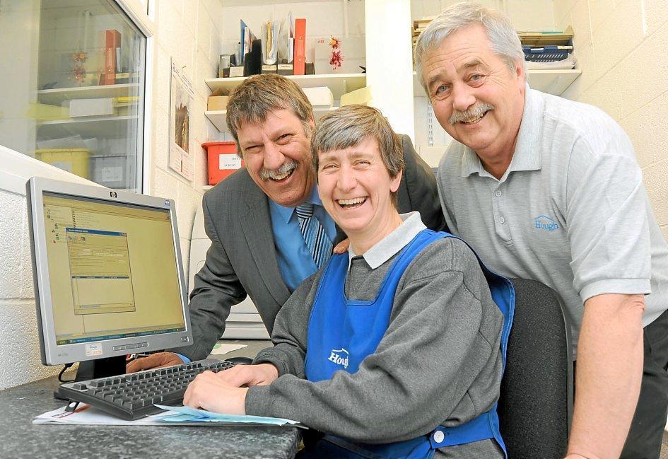 Carl meets Chris Adderley, centre, and Paul Ashford